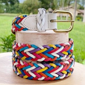 Capizio Belt | Braided Rainbow Leather | Sz: ML